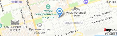 Студия 2000 на карте Ростова-на-Дону