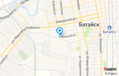 Местоположение на карте пункта техосмотра по адресу Ростовская обл, г Батайск, ул Рыбная, д 98А