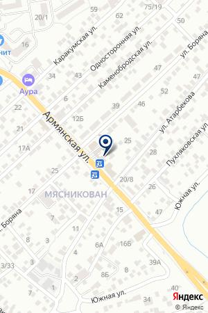 Продуктовый магазин на Армянской на карте Ростова-на-Дону
