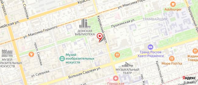 Карта расположения пункта доставки Ростов-на-Дону Кировский в городе Ростов-на-Дону