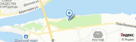 Башня на карте Ростова-на-Дону