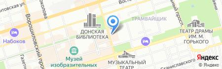 Массандра на карте Ростова-на-Дону