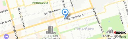 Российско-Американская школа бизнеса на карте Ростова-на-Дону
