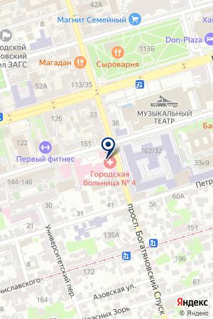 Продуктовый магазин на Социалистической на карте Ростова-на-Дону