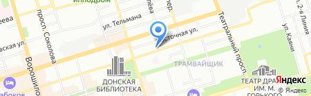 Евротек-Комфорт на карте Ростова-на-Дону
