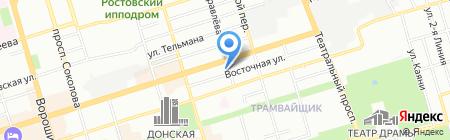 Мира на карте Ростова-на-Дону