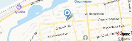 Автомойка на Ленинградской на карте Батайска