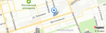 Диапазон Тур на карте Ростова-на-Дону