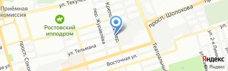 Респект Туристик на карте Ростова-на-Дону