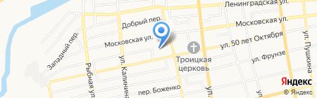 Средняя общеобразовательная школа №5 им. Ю.А. Гагарина на карте Батайска