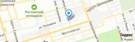 Дон-Марин на карте Ростова-на-Дону
