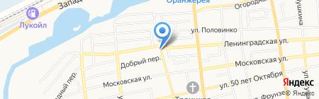 Магазин разливного пива на ул. Луначарского на карте Батайска