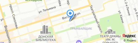 Джой на карте Ростова-на-Дону