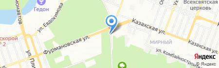 На Мирном на карте Ростова-на-Дону