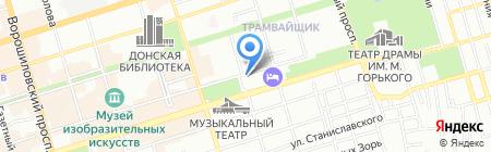 Янтарь на карте Ростова-на-Дону