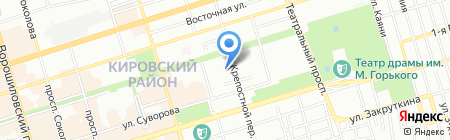 Анюта на карте Ростова-на-Дону