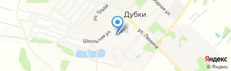 Дубковская средняя общеобразовательная школа на карте Бегоулево