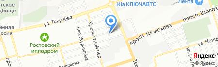 Ласка на карте Ростова-на-Дону