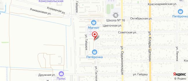 Карта расположения пункта доставки Пункт выдачи в городе Батайск