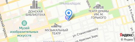 Миледи на карте Ростова-на-Дону