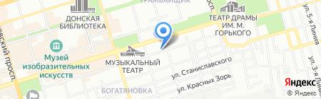 Путеводитель на карте Ростова-на-Дону