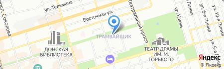 Винт на карте Ростова-на-Дону