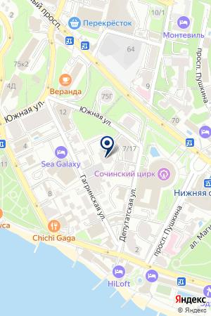 Миллениум Тауэр на карте Сочи