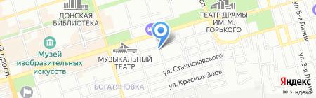 Кан-Синь на карте Ростова-на-Дону