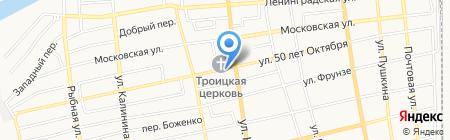 Продуктовый магазин на ул. 50 лет Октября на карте Батайска