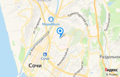 Местоположение на карте пункта техосмотра по адресу Краснодарский край, г Сочи, ул Чебрикова, стр 46В