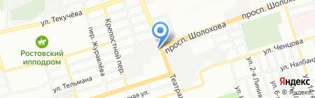 Гурия на карте Ростова-на-Дону