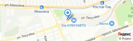 УЮТ на карте Ростова-на-Дону