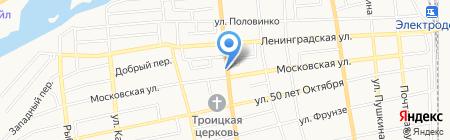 Продуктовый магазин на ул. Куйбышева на карте Батайска