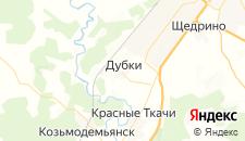 Отели города Дубки на карте