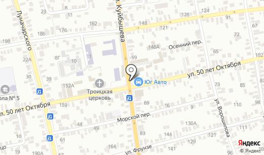 Строитель. Схема проезда в Батайске