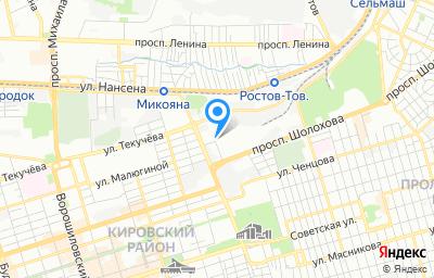 Местоположение на карте пункта техосмотра по адресу г Ростов-на-Дону, пер Энергетиков, д 5