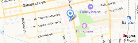Поликлиника №2 Дорожная клиническая больница на карте Батайска