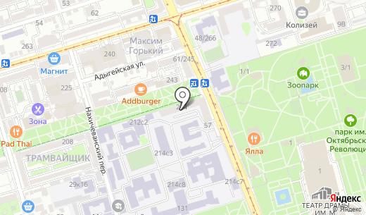 Общежитие. Схема проезда в Ростове-на-Дону