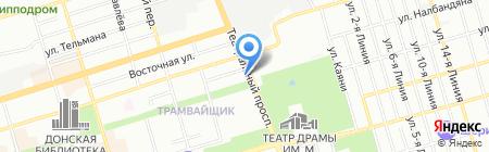 Росток на карте Ростова-на-Дону