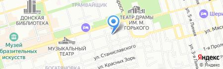 Креатив на карте Ростова-на-Дону