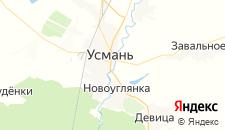 Отели города Усмань на карте