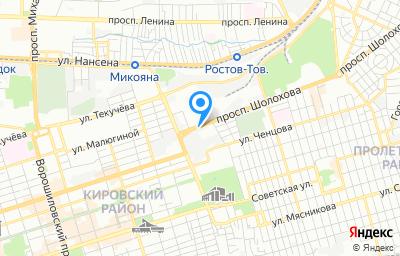 Местоположение на карте пункта техосмотра по адресу г Ростов-на-Дону, пр-кт Шолохова, влд 12