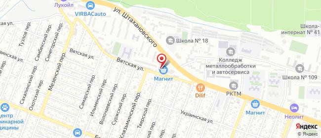 Карта расположения пункта доставки Ростов-на-Дону Вятская в городе Ростов-на-Дону