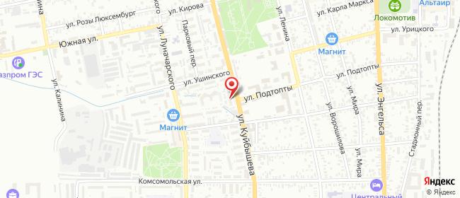 Карта расположения пункта доставки Халва в городе Батайск