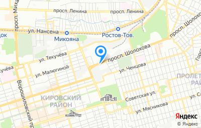Местоположение на карте пункта техосмотра по адресу г Ростов-на-Дону, пр-кт Шолохова, д 12