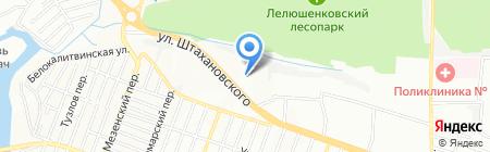 Средняя общеобразовательная школа №18 на карте Ростова-на-Дону