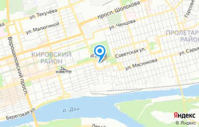 Местоположение на карте пункта техосмотра по адресу г Ростов-на-Дону, пл Театральная, д 62А к 207а