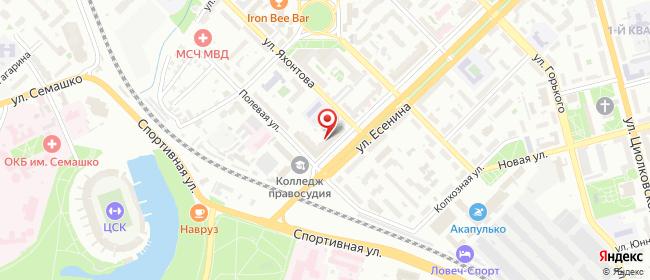 Карта расположения пункта доставки Рязань Есенина в городе Рязань