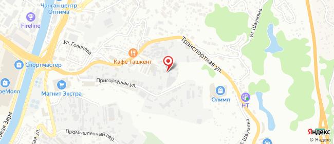 Карта расположения пункта доставки DPD Pickup в городе Сочи