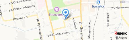 Магазин овощей и фруктов на ул. Урицкого на карте Батайска